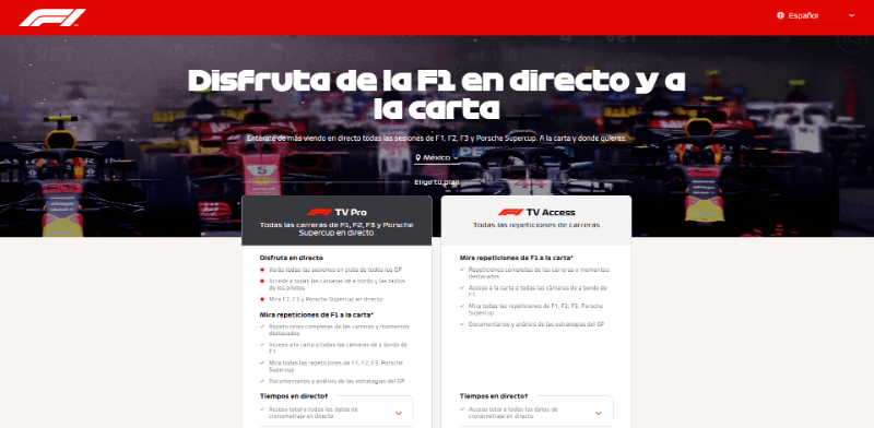 F1 TV Pro para android